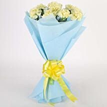 Sundripped Yellow Carnations Bouquet: Valentine Flowers Bhagalpur