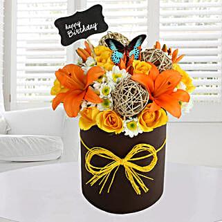 Sunny Floral Arrangement: