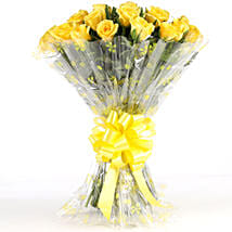Sunny Side-24 Yellow Roses Bouquet: Independence Day Flowers