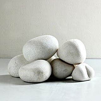 Super White Stone Pebbles 25 To 50 mm: Gardening Pebbles