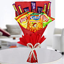 Chocolates & Snacks Bouquet: Mothers Day Chocolate Bouquet