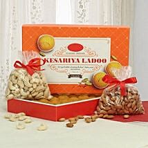 Sweet N Crunch Hamper: Sweets & Dry Fruits for Diwali