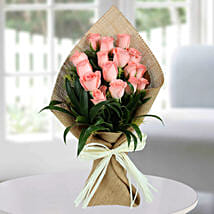 Sweet Pink Roses Bunch: Send Flower Bouquets