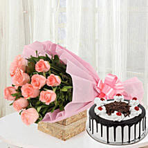 Sweet Treat with Flowers: Valentines Day Flowers & Cakes