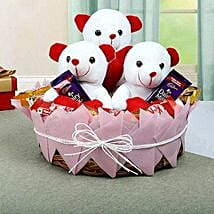 Teddy and Chocolate Basket: Gift Baskets for Mothers Day