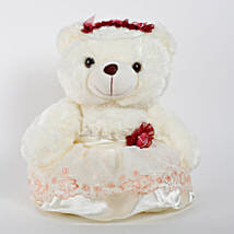 Teddy Bear With Red Flower: Soft Toys for Birthday