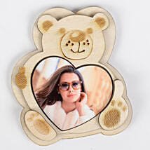 Teddy with a Heart Fridge Magnet: Personalised Accessories