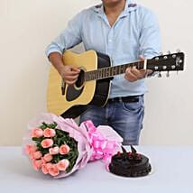 The Perfect Surprise Of Melodies: Flowers & Guitarist Service