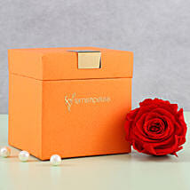 Timeless- Forever Red Rose in Orange Box: Send Flowers to Gadchiroli