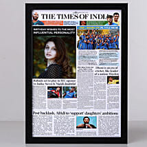 TOI Front Page Personalised Frame-Birthday: Personalised Photo Frames Mumbai
