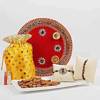 Traditional Rakhi Thali Combo: Rakhi Pooja Thali Agra