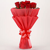 Vivid - Bunch of 10 Red Roses Flowers Gifts.