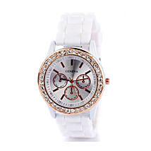 White Diamante Watch For Women: Watches for Her