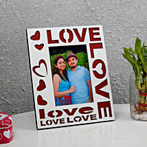 White Love Photo Frame: Personalised Photo Frames Gifts