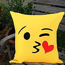 Winking Love Cushion: Kiss Day Gifts