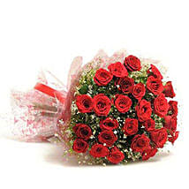 Beautiful 30 Red Roses Bouquet: Send Flowers to Anand