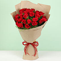 Beautiful 30 Red Roses Bouquet: Send Flowers to Moga