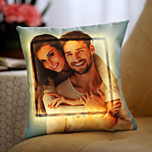 Yellow LED Personalised Love Cushion: Gifts for Husband
