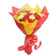 Yellow N Red Carnations: Send Flowers to Amravati