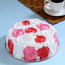 Yummy Colourful Rose Cake: Anniversary Designer Cakes