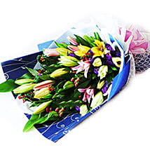 Lovely Lilies Bouquet: Send Flower Bouquets to Malaysia