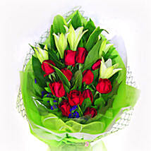 Mix Of Rose N Lily: Flower Delivery Malaysia