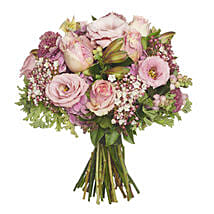 Blushing Pink Bouquet: Send Flowers to New Zealand