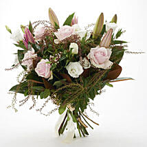 Fresh Roses N Lilies Bouquet: Flowers to Hamilton