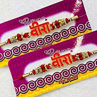 Judvaa rakhi: Set of 2 Rakhi to New Zealand