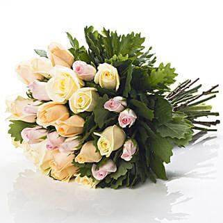 Pastel Rose Bouquet: Send Flower Bouquets to New Zealand