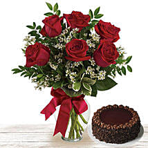 Chocolate Cake And Roses: Send Cakes to Qatar
