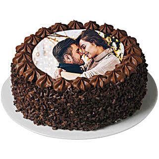 Flavorsome Chocolate Photo Cake: Valentine's Day Cakes to Qatar