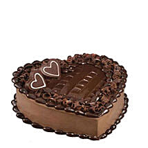 Tempting Heart Shaped Chocolate Cake: Cake Delivery in Qatar