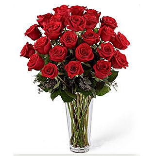 24 Red Roses Arrangement: Valentine Roses to Saudi Arabia