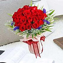 21 Red Rose Bouquet: Friendship Day Flowers to Singapore