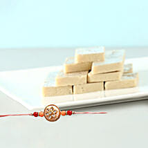 Fancy Rakhi And Kaju Barfi Combo: