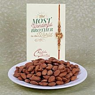 Gorgeous Rakhi With Almonds: Rakhi Delivery in Singapore