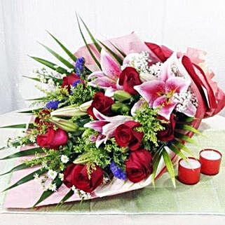 Handbouquet: Lilies in Singapore