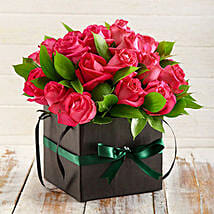 Cerise Roses in a Box: Corporate Hampers to South Africa