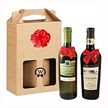 Classic Dual Italian Wines: Corporate Hampers to Spain