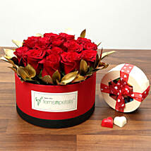 20 Red Roses With Belgium Chocolates: Valentine's Day Gifts to UAE