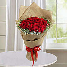 50 Red Roses Bunch: Same Day Anniversary Flower Bouquets in UAE