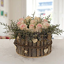 Enchanting Peach Rose Arrangement: Send Miss You Flowers to UAE