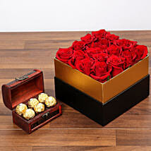 Idyllic Red Roses and Chocolates: Send Birthday Gifts to UAE