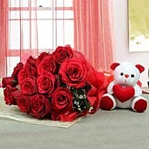 Lovable Combo For U: Mother's Day Flower and Teddy Bears to UAE