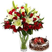 Lovely Combo: Flower and Cake Delivery Abu Dhabi