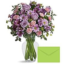 Ornamental Flowers With Greeting Card: Mother's Day Flower and Cards to UAE