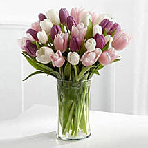 Painted Skies Tulip Bouquet: Wedding Gifts to Dubai