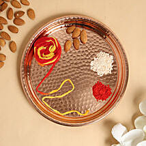 Pooja Thali With 100gms Almonds: Diwali Gift Delivery in Dubai UAE