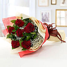 Romantic Red Roses Bouquet: Valentine Gift Delivery Abu Dhabi